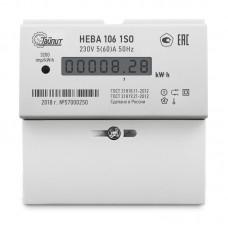 Счетчик электроэнергии НЕВА 106 1S0 5(60) однофазный однотарифный 5(60) класс точности 1.0 D ЖКИ