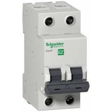 Выключатель автоматический двухполюсный 63A C 4.5кА EASY 9