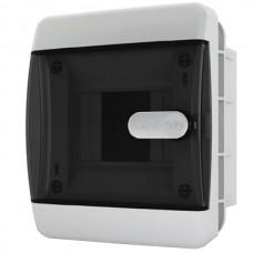 Щит распределительный встраиваемый ЩРв-П-6 IP41 прозрачная черная дверца
