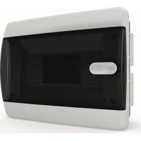 Щит распределительный встраиваемый ЩРв-П-8 IP41 прозрачная черная дверца