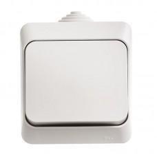 ЭТЮД Выключатель одноклавишный наружный IP44 белый