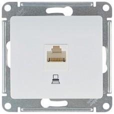 GLOSSA Розетка компьютерная RJ45 категория 5е в рамку белая
