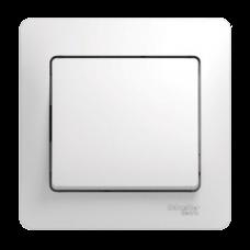 GLOSSA Выключатель одноклавишный в сборе белый