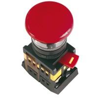 Кнопка красная с фиксацией AEAL-22 Гриб без подсветки 1з+1р 240В