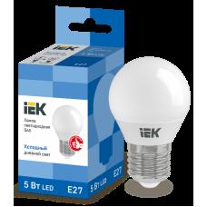 Лампа светодиодная LED 5вт E27 белый матовый шар ECO