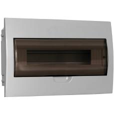Щит распределительный встраиваемый ЩРв-П-18 IP41 пластиковый белый прозрачная дверь