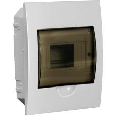 Щит распределительный встраиваемый ЩРв-П-6 IP41 пластиковый белый прозрачная дверь