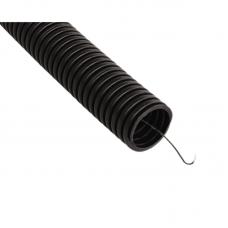 Труба гофрированная ПНД 32 мм с протяжкой черная
