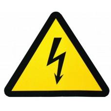 Знак безопасности Молния 150х150х150мм